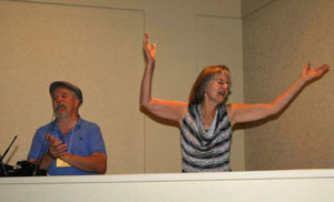 Jan and Terry at Write! Canada worshipping