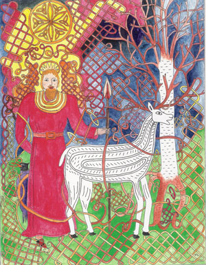 Deer and King: Celtic Knotwork by Judith Lawrence