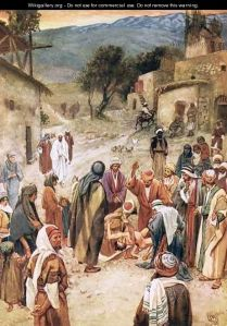 Jesus About to Heal a Boy by William Brassey Hole