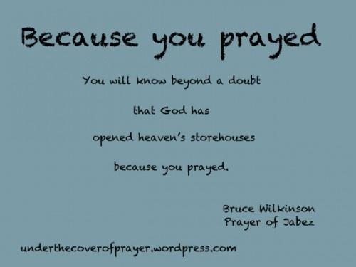 Because-you-prayed