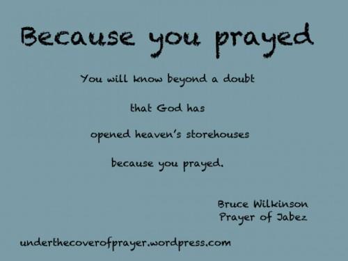 Because-you-prayed